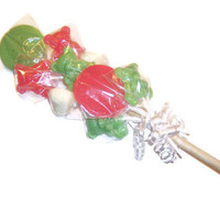 Lollipop Bouquet - 2 Large Smile 5 Teddy Bear and 2 Heart Lollipops - Great Gift to Cheer somebody up
