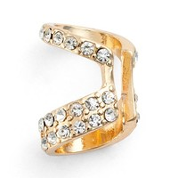 Women's Jules Smith 'Cut Out' Pave Ear Cuff