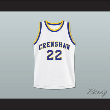 abf7fa37b3f6 Omar Epps Quincy McCall 22 Crenshaw High School Basketball Jersey Love and  Basketball