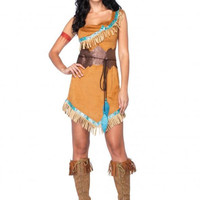 Adult Womens Disney™ Princess Pocahontas Native American Halloween Party Costume
