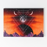 New Age Mountains Canvas Art