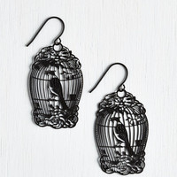 ModCloth Vintage Inspired How the Caged Bird Swings Earrings
