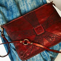 Free People Arrow Rose Leather Crossbody