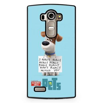 The Secret Life Of Pets Max Poster LG G4 Case