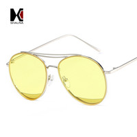 SHAUNA Fashion Women Pilot Sunglasses Brand Designer Ladies Flat Pink Mirror Lens Men Green Tint Glasses UV400