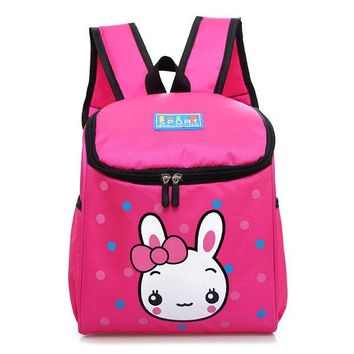 Children Nylon School Bags Rabbit Lunch Bag Backpack for Kindergarten Kids