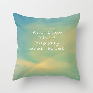 Happily Ever After Throw Pillow by Ally Coxon | Society6