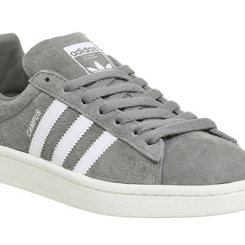 Adidas Campus Grey Three White - Unisex Sports