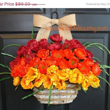 WREATHS ON SALE summer wreath fall wreaths welcome front door wreaths outdoor wreaths decorations birch bark basket welcome wreaths gift ide