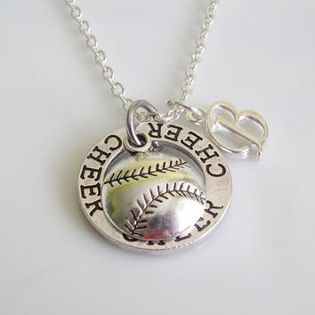 Cheer necklace, Baseball necklace, Softball necklace, Cheerleader gifts, sports jewelry, Team jewelry, team gifts, Cheerleading gifts