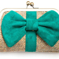 Molly Green Suede Purse | LA LA LAND