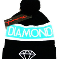 Diamond Supply Women Men Embroidery Beanies Knit Winter Wool Hat Cap