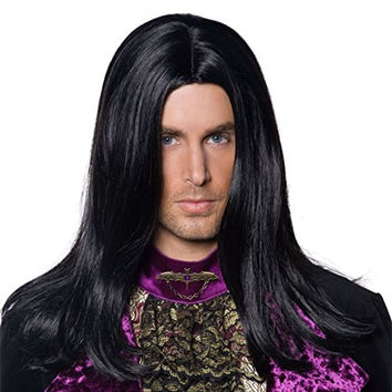 Smiffys Men's Gothic Count Wig Black One Size