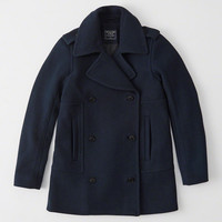 Womens Wool-Blend Peacoat | Womens Sale | Abercrombie.co.uk