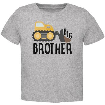 Big Brother Construction Truck Digger Toddler T Shirt