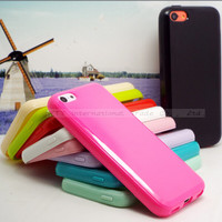 5C Cases For Apple iPhone5C iPhone 5C TPU Protective Shell Soft Silicone Phone Cover Candy Color Case 2016 Newest Arrival Hot!!!