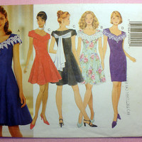 Formal, Coctail, Evening, Prom, Bridesmaid Dress Misses' Size 6, 8, 10, 12 Butterick 3847 Sewing Pattern Uncut