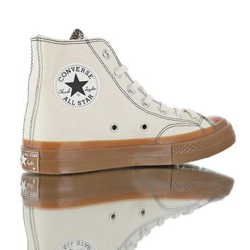 "Converse Converse Chuck Taylor All-Star Two High 70 ""White/Gum"" High Top Vulcanized Leisure Sports Shoes"
