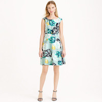 J.Crew Womens Aquatic Floral Silk Dress