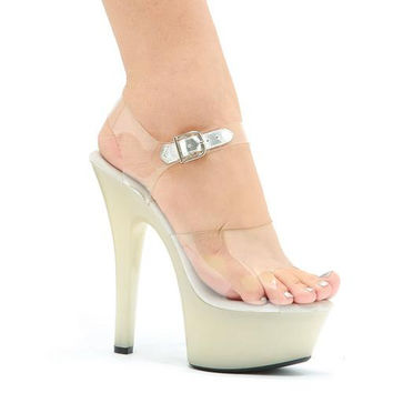 "6"" Heel Glow In The Dark Sandal."