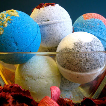 Bomb Box 3 Large Vegan Bath Bombs You pick the by SerisSoaps