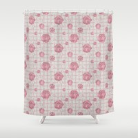 Pink Roses on Dots Basket Weave by WickedRefined - Nicole Demereckis