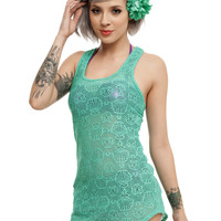 Disney The Little Mermaid Green Girls Swim Cover Up