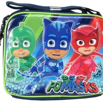 Boys Disney Junior Pj Masks Gekko Catboy Owlette Lunch Bag/Box