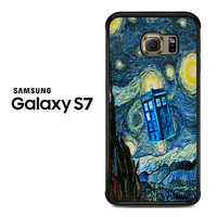 Doctor who Starry night Samsung Galaxy S7 Case