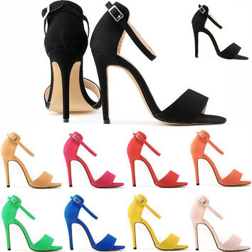 New leisure contracted peep-toe female sexy stiletto heel sandals in summer = 5710704001