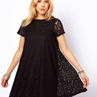 Cutout Design Short Sleeve Dress