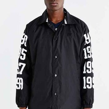 Hall Of Fame 3M Reflective Dates Coaches Jacket- Black