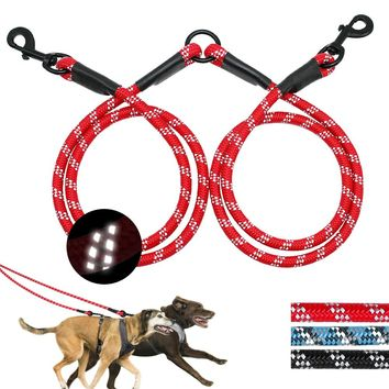 2 Way Double Dog Leash For 2 Dogs