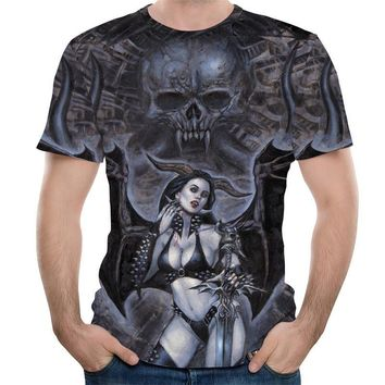 Cool Unisex Adult Hipster 3D T-shirt Tees Funny Eagle / Lions / Skull / Boss Dog / Wolf / King Queen Prints TShirts Hip Hop TopsAT_93_12