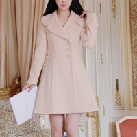 Pale Long Sleeve Coat