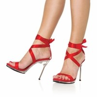 4 1/2'' Heel Ribbon Wrap Sandal