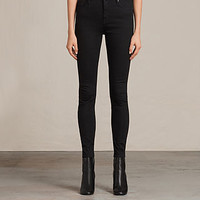ALLSAINTS US: Womens Grace Jeans (Jet Black)