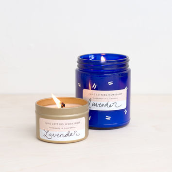 Mystery Cobalt and Gold Tin Candle Bundle