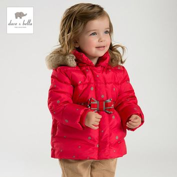 DB2956 DAVEBELLA girls  down jacket children padded jacket kids boutique outerwear Christmas