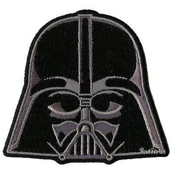 "Licensed cool NEW Star Wars Darth Vader Helmet Embroidered  IRON ON Patch Badge 3"" x 2 3/4"""