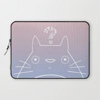 Stay Curious | Serenity & Rose Quartz Laptop Sleeve by Miss L In Art