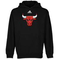 adidas Chicago Bulls Youth Team Logo Pullover Hoodie - Black - http://www.shareasale.com/m-pr.cfm?merchantID=7124&userID=1042934&productID=554340294 / Chicago Bulls