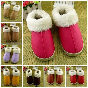 Men Women Winter Soft Warm Indoor Slippers Cotton Sandal House Home Anti-slip Shoes = 1704210180