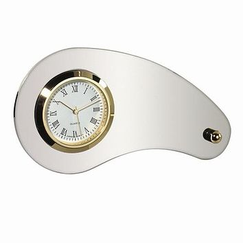 Personalized Free Engraving Silver Desk Clock