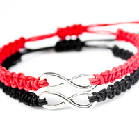 Infinity Friendship Bracelets Red and Black