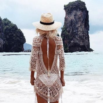 Swimsuit New Arrival Summer Hot Sexy Women's Fashion Long Sleeve Lace Blouse Backless Beach Bikini [1292353732675]