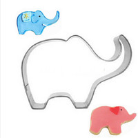 1PC/Lot Stainless Steel Animal Elephant Cookie Cutter Dough Pastry Fruit Chocolate Decorating Mold DIY Kitchen Baking Moulds