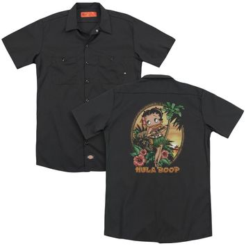 Betty Boop - Hula Boop Ii (Back Print) Adult Work Shirt