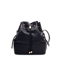 BUCKET BAG WITH METAL DETAILING