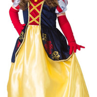 Little Adventures Snow White Satin Dress Costume with Hairbow